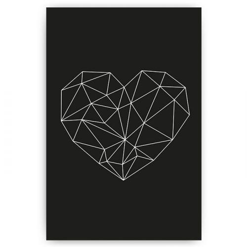 poster geometrisch hart