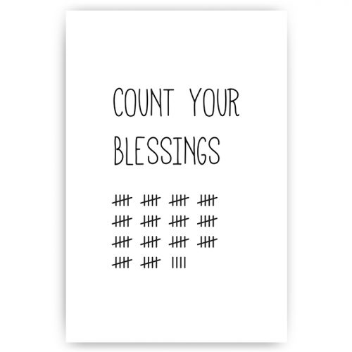poster count your blessings tekst