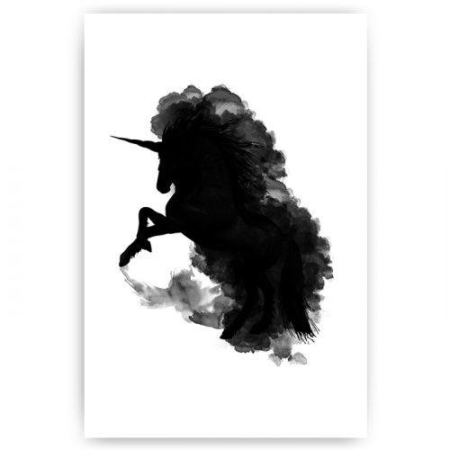 poster silhouet eenhoorn