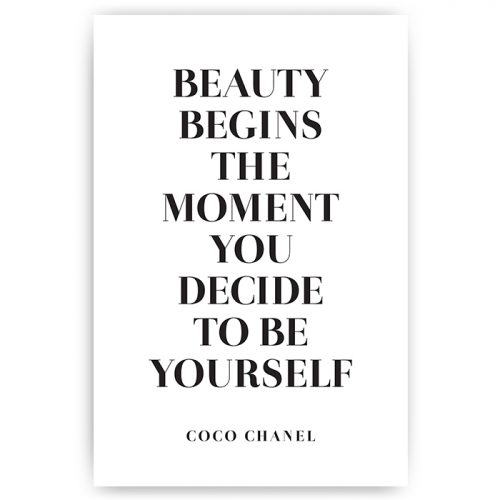 poster quote beauty begins