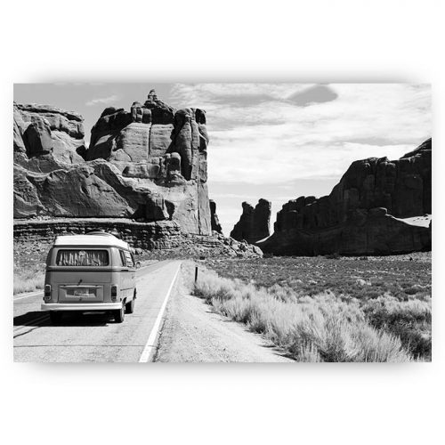 poster zwart wit landschap arizona