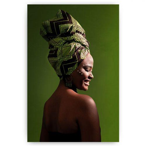 poster afrikaanse vrouw met hoofddoek