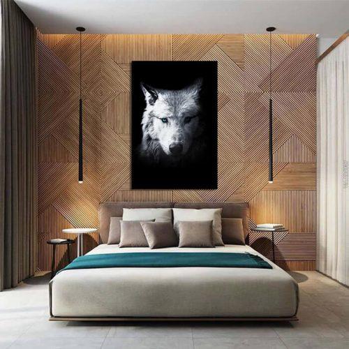 poster wolf slaapkamer
