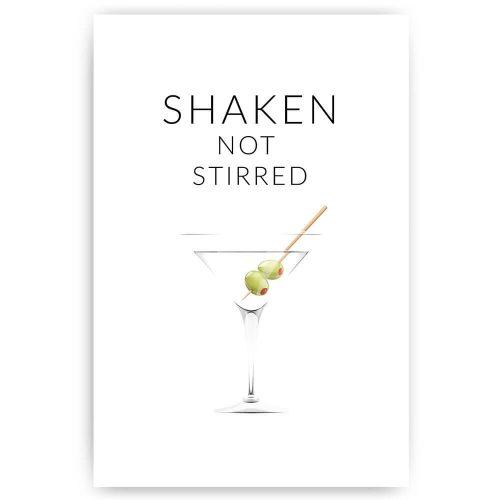 Poster shaken not stirred