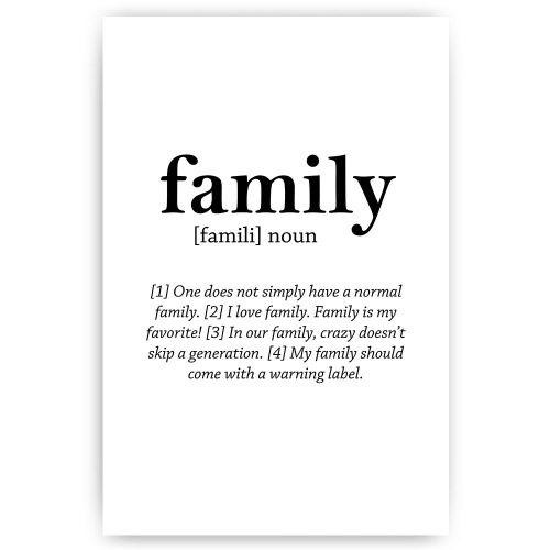 poster family noun