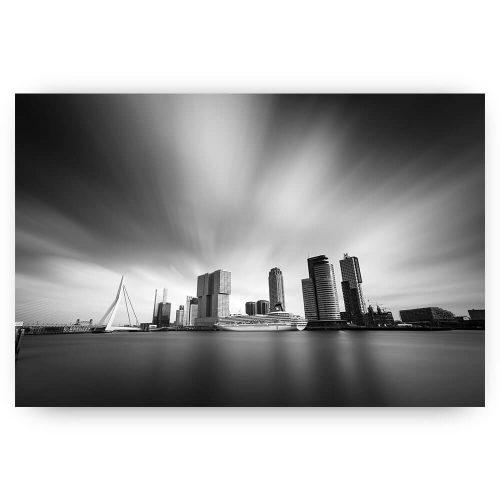 Skyline Rotterdam Zwart wit