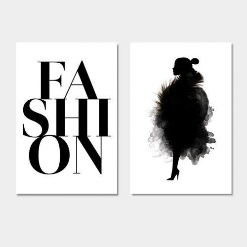 set fashion vrouw silhouet