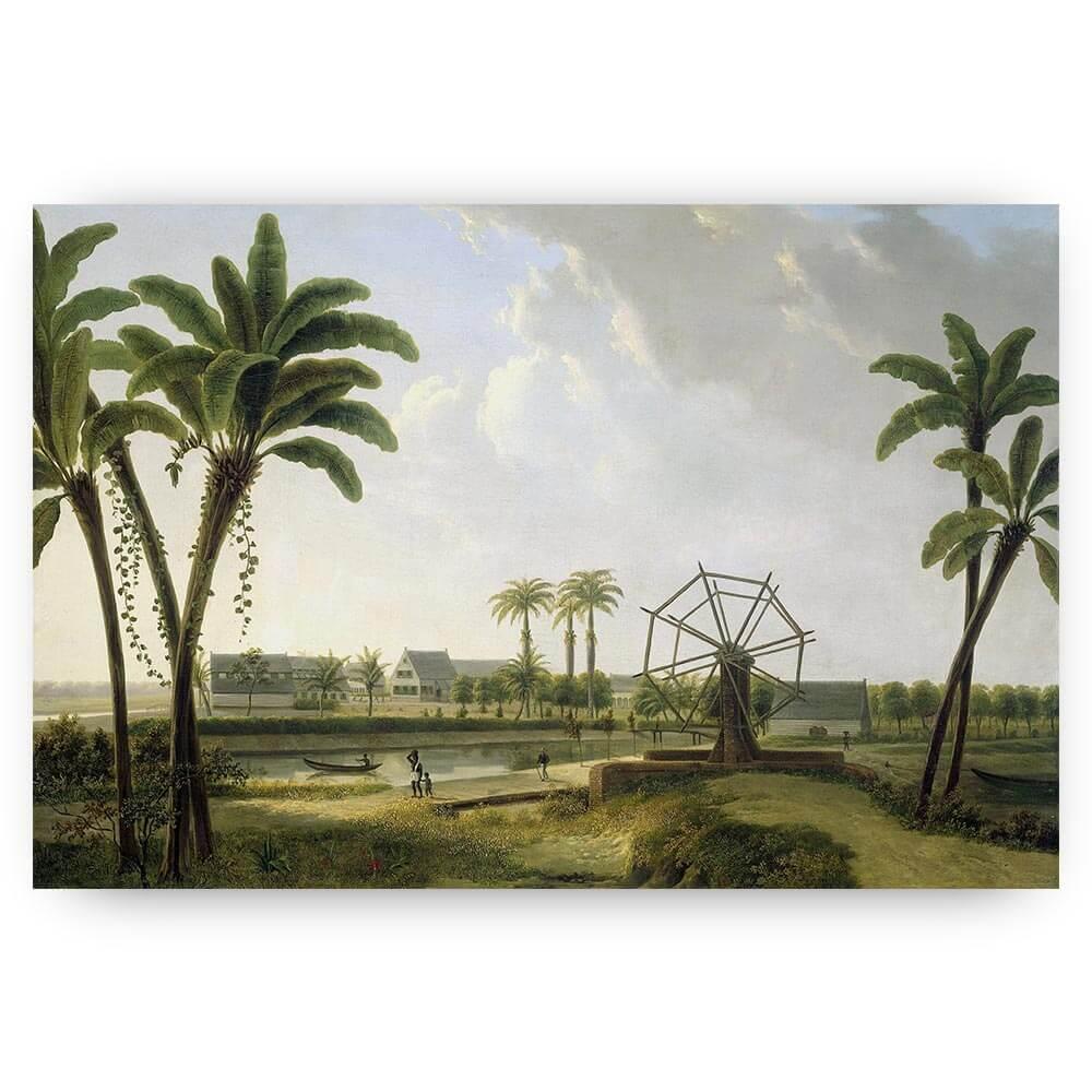 schilderij koffieplantage landschap