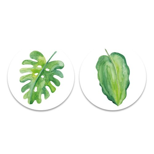 groene bladeren waterverf